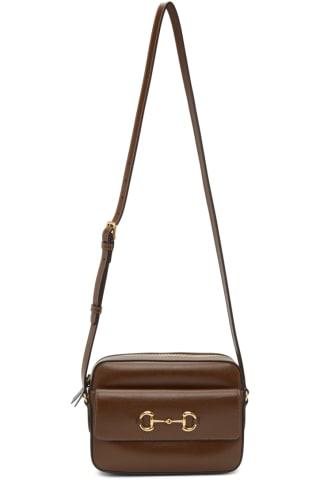 Brown Small 구찌 Gucci 1955 Horsebit Bag,Brown sugar