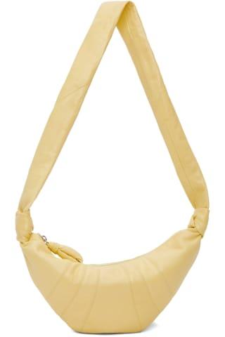 21FW 르메르 크로와상백 스몰 - 커스타드 Lemaire   Yellow Small Croissant Bag,Custard