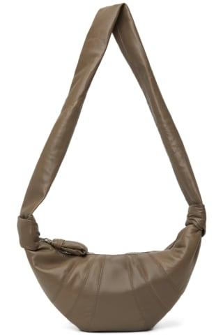 21FW 르메르 크로와상백 스몰 - 콘크리트 그레이 Lemaire Taupe Small Croissant Bag,Concrete grey