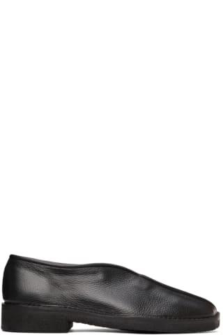 르메르 Lemaire Black Square Toe Loafers