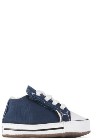 컨버스 아기 운동화 Converse Baby Navy Easy-On Chuck Taylor All Star Cribster Sneakers,Navy/Natural ivory/White