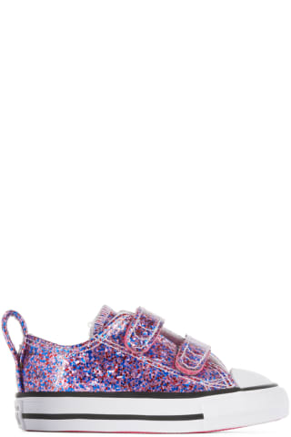 컨버스 아기 운동화 Converse Baby Pink Glitter Easy-On Chuck Taylor All Star Sneakers,Bold pink/White/Black