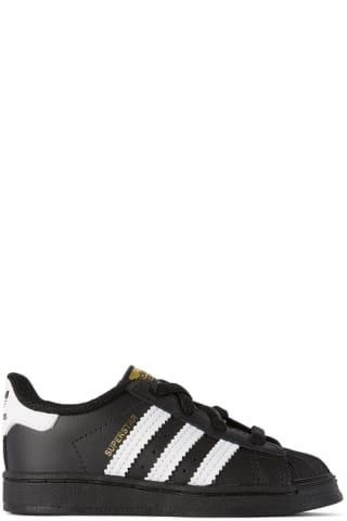 아디다스 아기 운동화 Adidas Kids Baby Black & White Superstar Sneakers,Core black/Cloud white/Core black