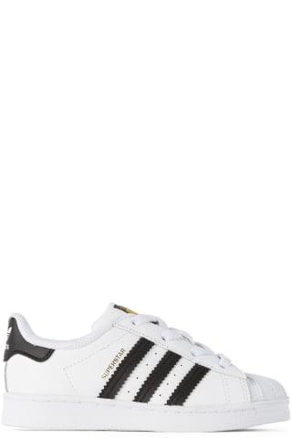 아디다스 아기 운동화 Adidas Kids Baby White & Black Superstar Sneakers,Cloud white/Core black/Cloud white