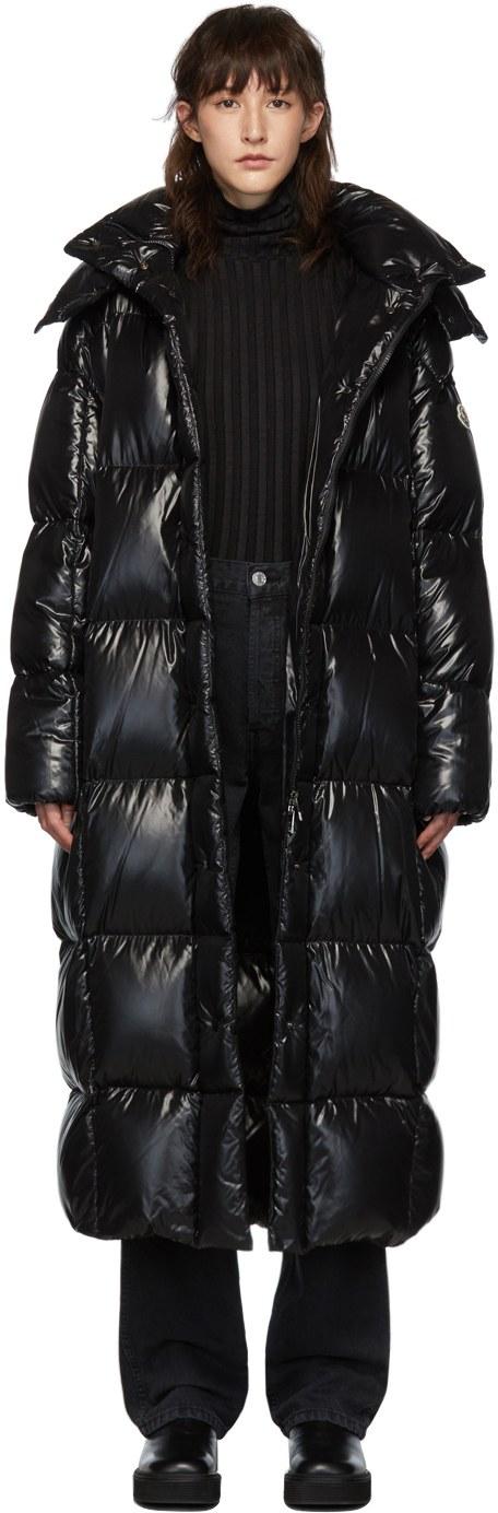 MONCLER Black Down Parnaiba Coat