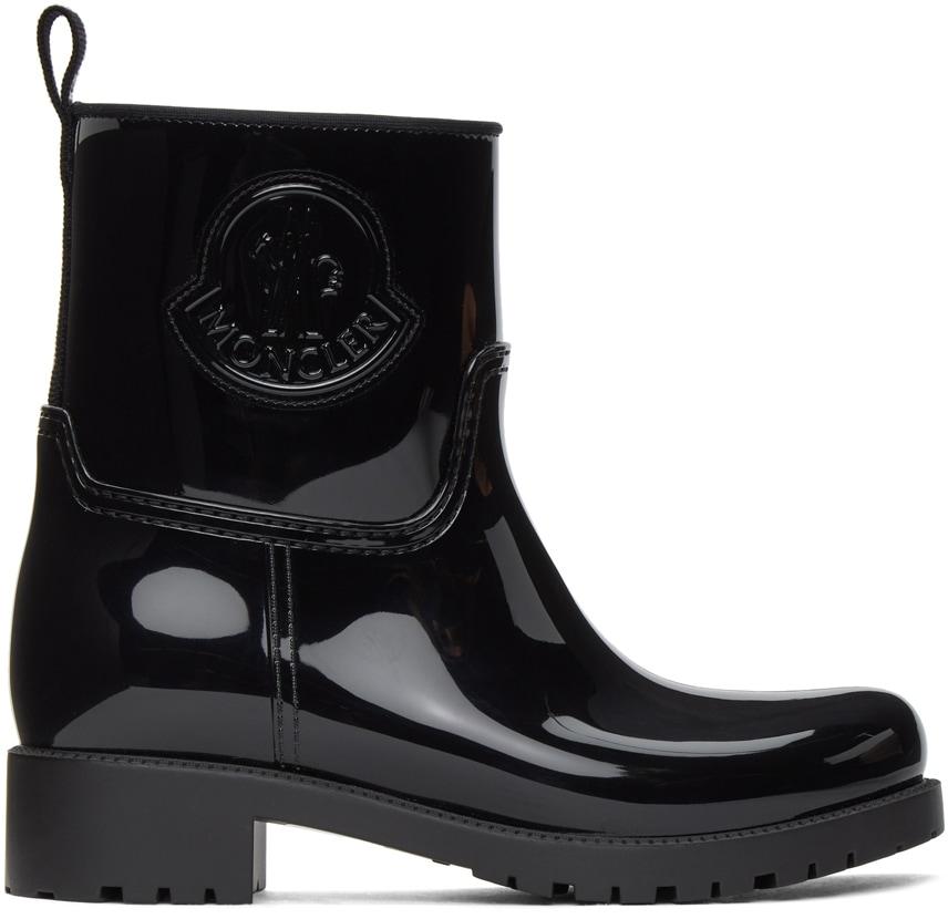 MONCLER Black Ginette Rubber Boots