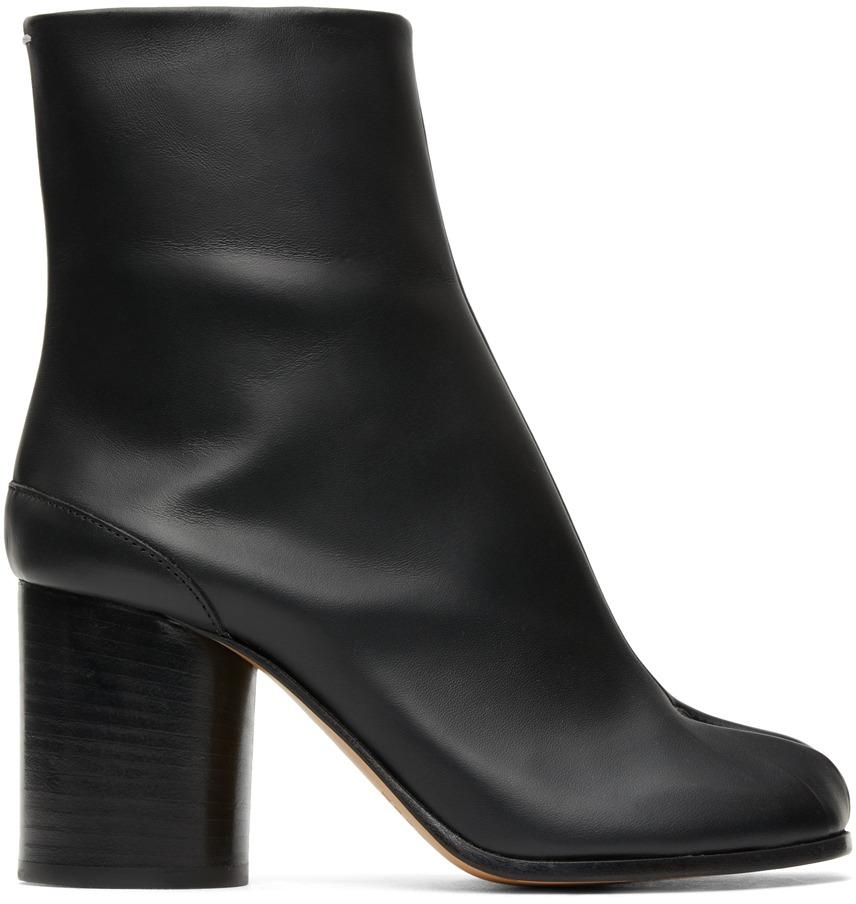 【MAISON MARGIELA】ブラック Tabi 足袋 ブーツ(ヒール高 7.5 cm)