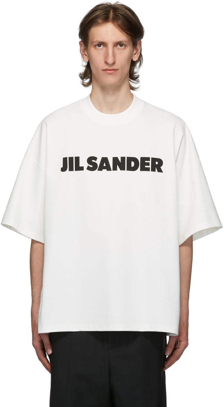 JIL SANDER ホワイト Boxy ロゴ T シャツ