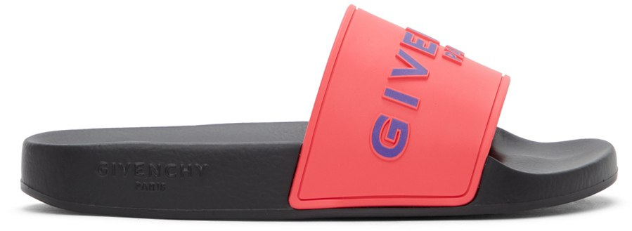 GIVENCHY ピンク ロゴ スライド