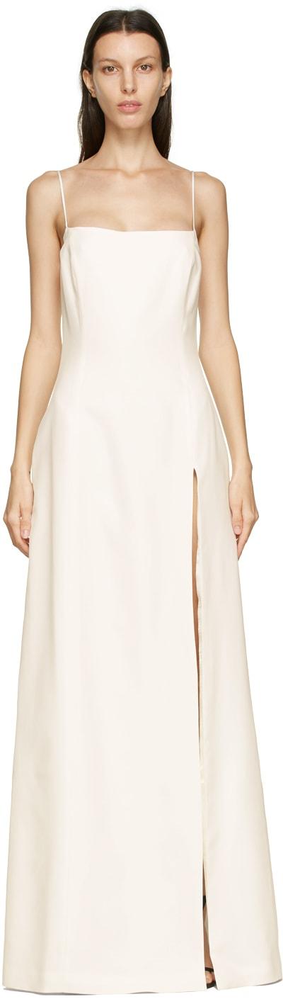 GAUGE81 Off-White Silk Toyama Long Dress