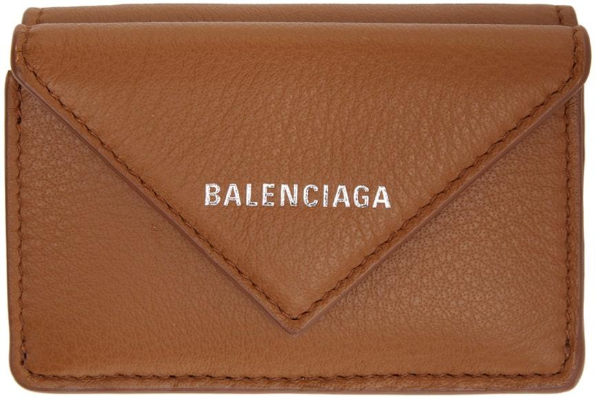 【BALENCIAGA】ブラウン ミニ エンベロープ Papier ウォレット