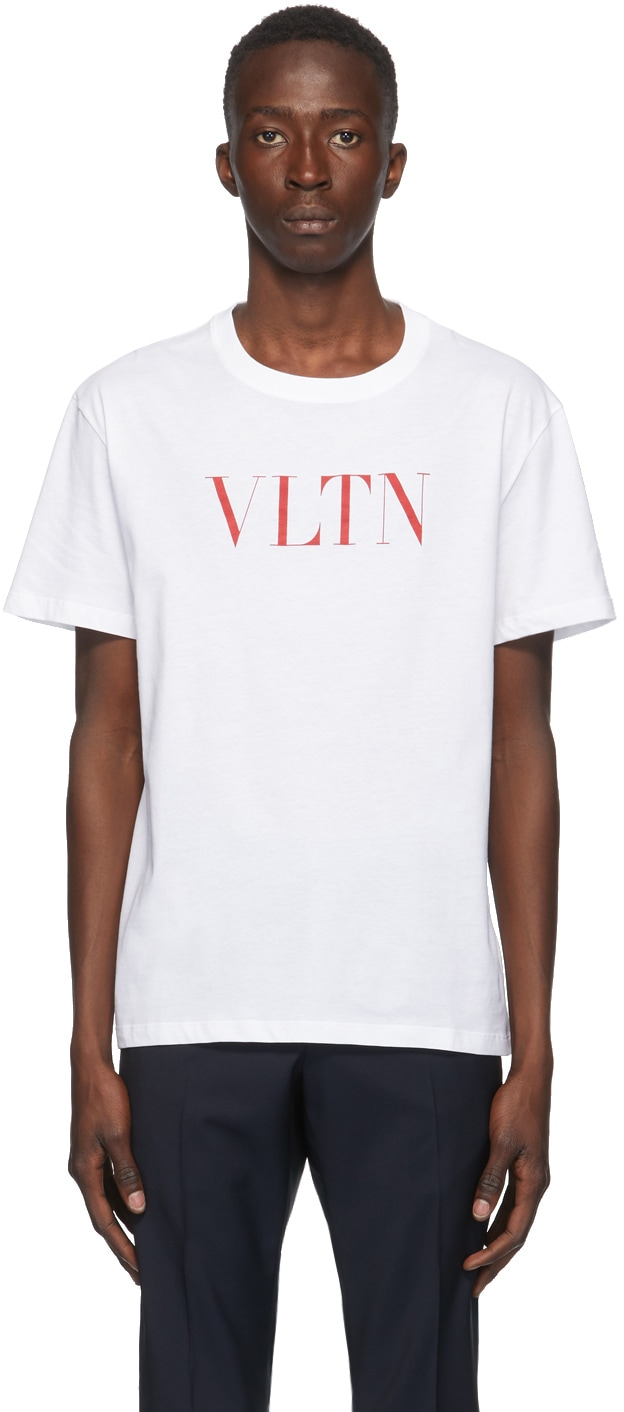 VALENTINO ホワイト & レッド VLTN T シャツ