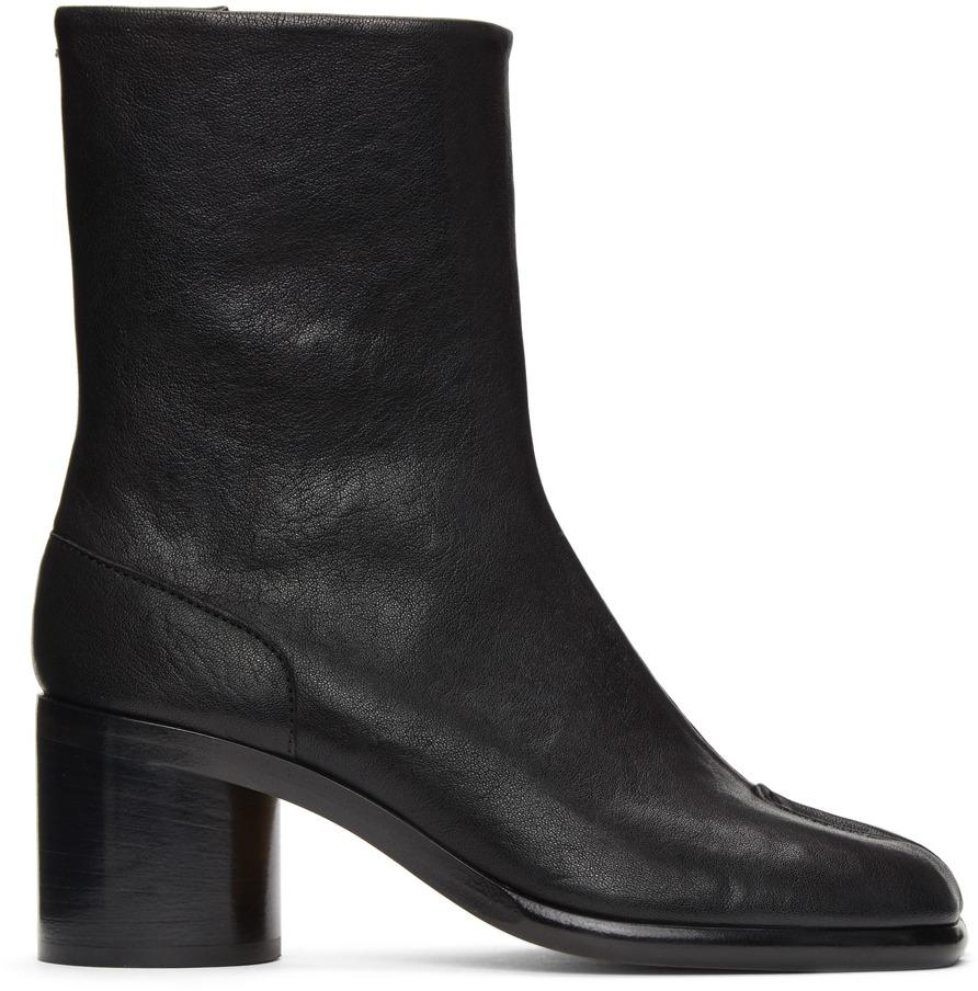 【MAISON MARGIELA】ブラック Tabi 足袋 ブーツ(ヒール高 5 cm)