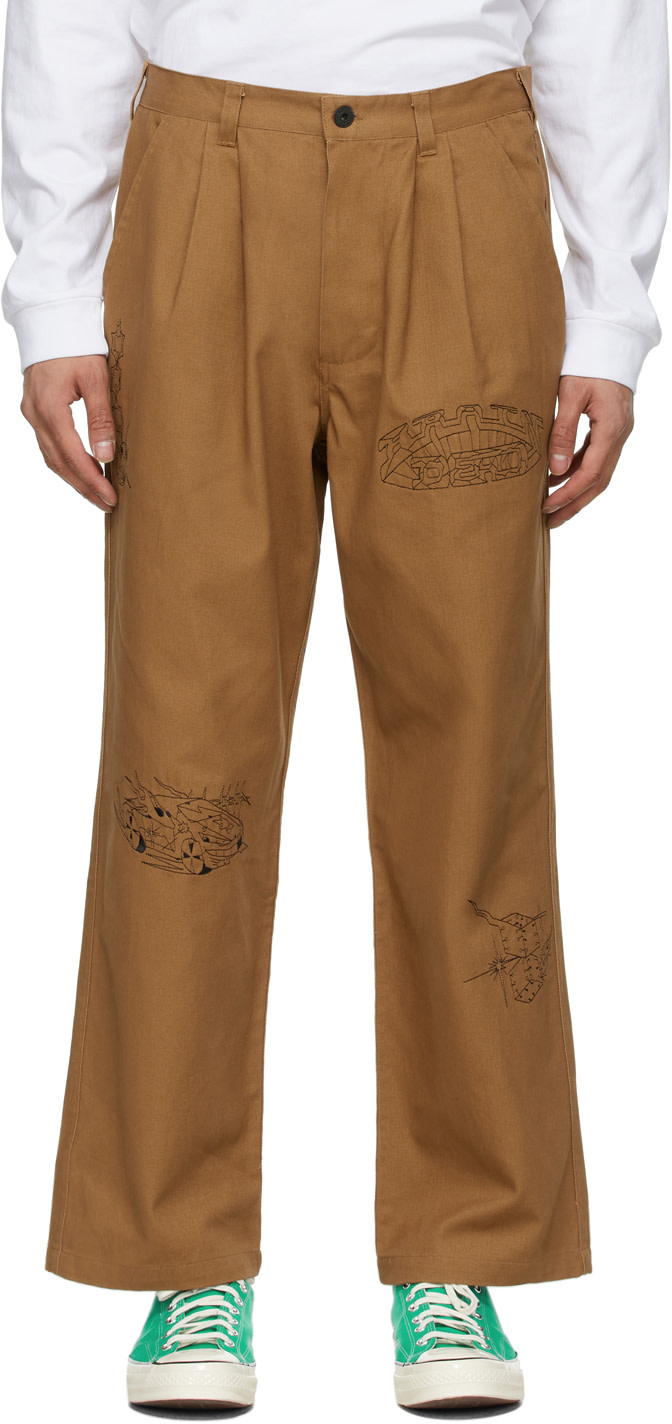 Khaki Whips & Chains Trousers by BRAIN DEAD, available on ssense.com Gigi Hadid Pants Exact Product