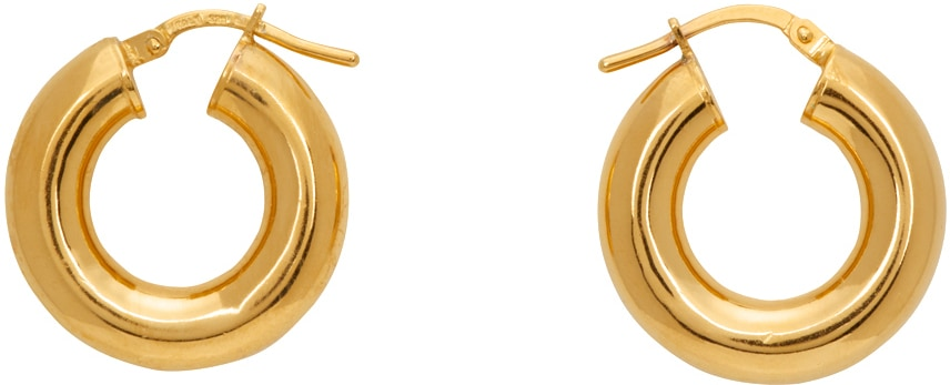 SOPHIE BUHAI Gold Tiny Everyday Hoop Earrings