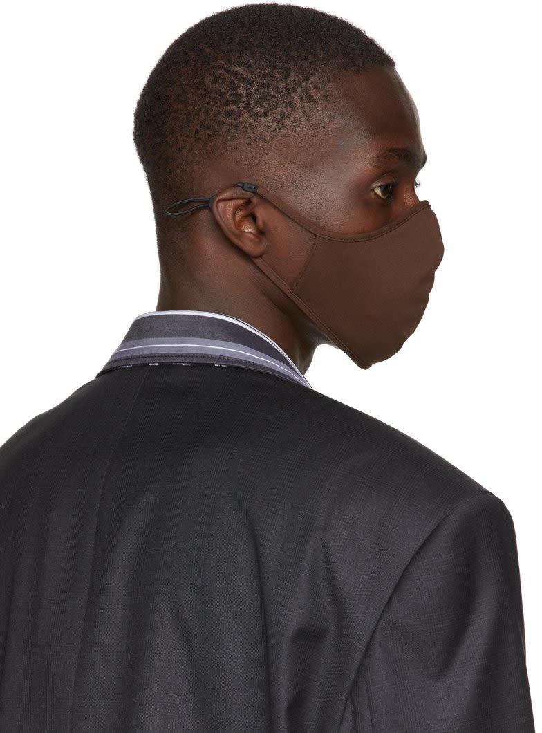 ブラウン ロゴ マスク