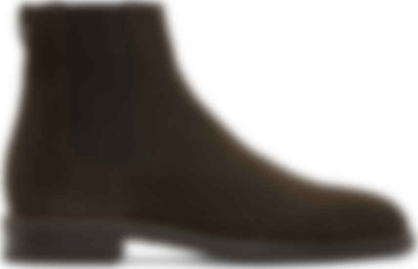 Brown Suede Canon Chelsea Boots by Paul