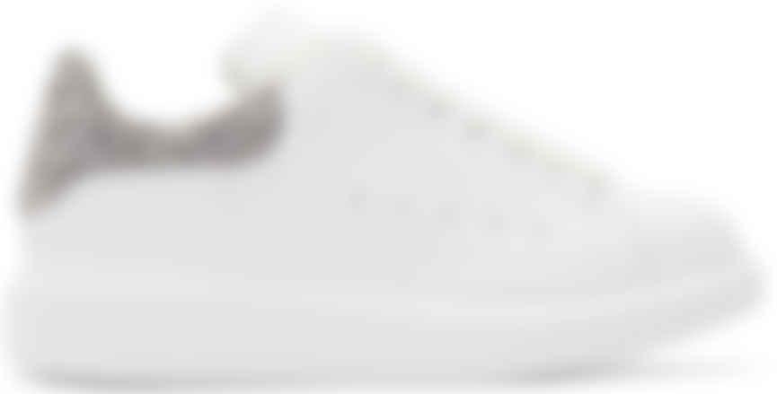 \u0026 Silver Glitter Oversized Sneakers