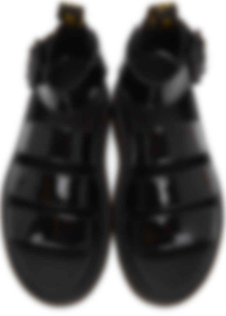 Black Patent Clarissa II Sandals by Dr