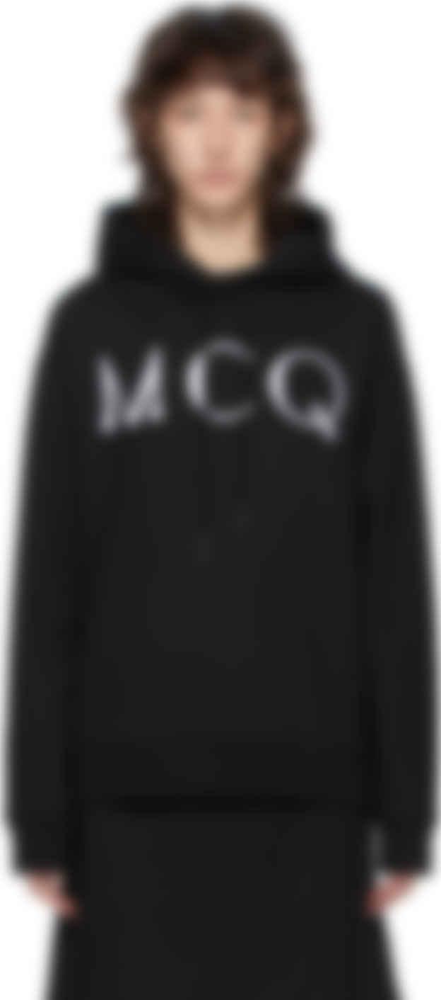 mcq alexander mcqueen black mcq swallow logo hoodie ssense canada alexander mcqueen