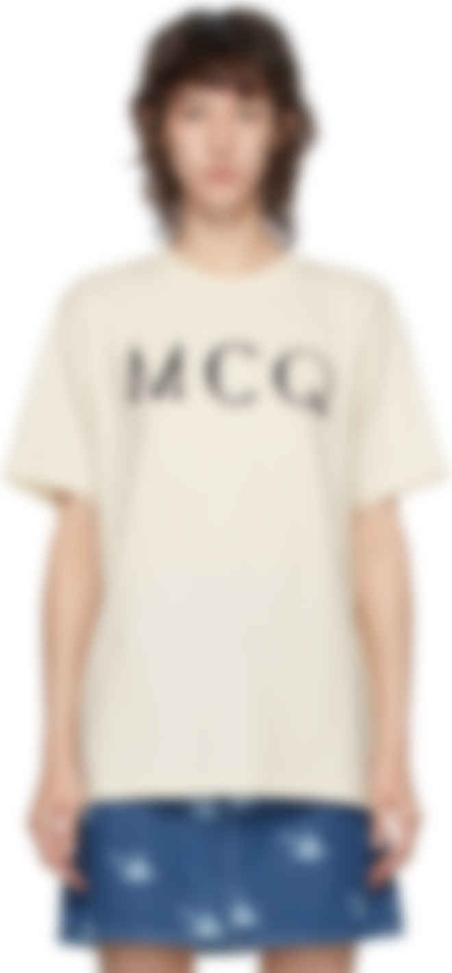ssense off white mcq swallow logo t shirt
