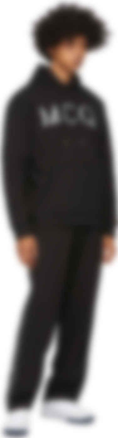 ssense black mcq swallow logo hoodie