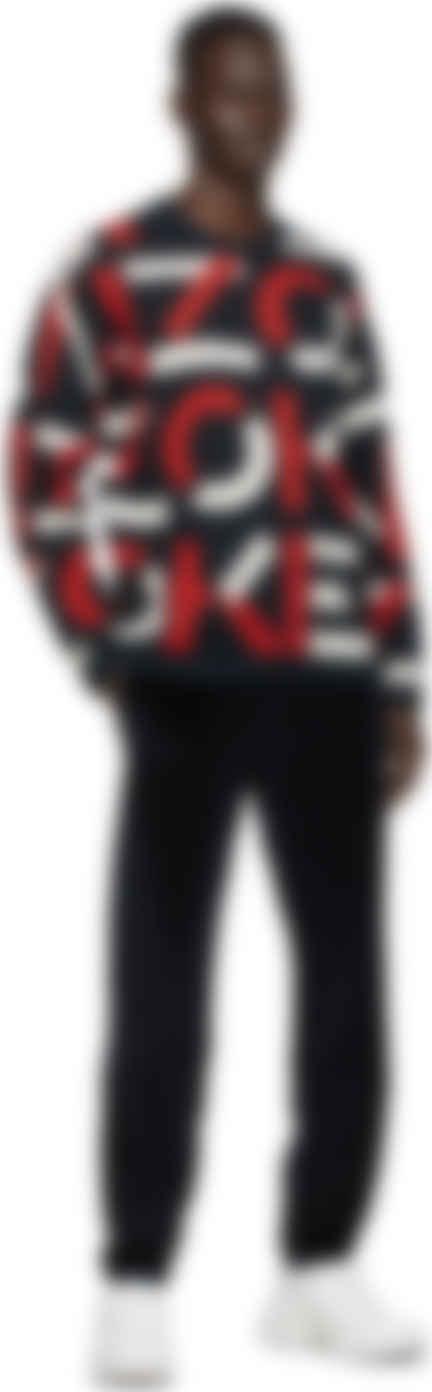Kenzo Navy Monogram Sweater Ssense