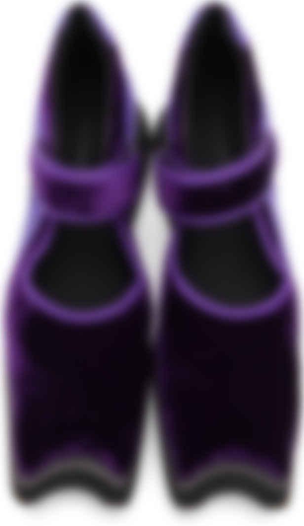 purple velvet sneakers