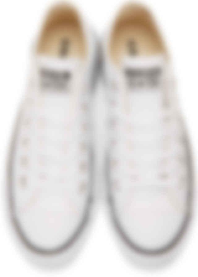 platform white leather converse