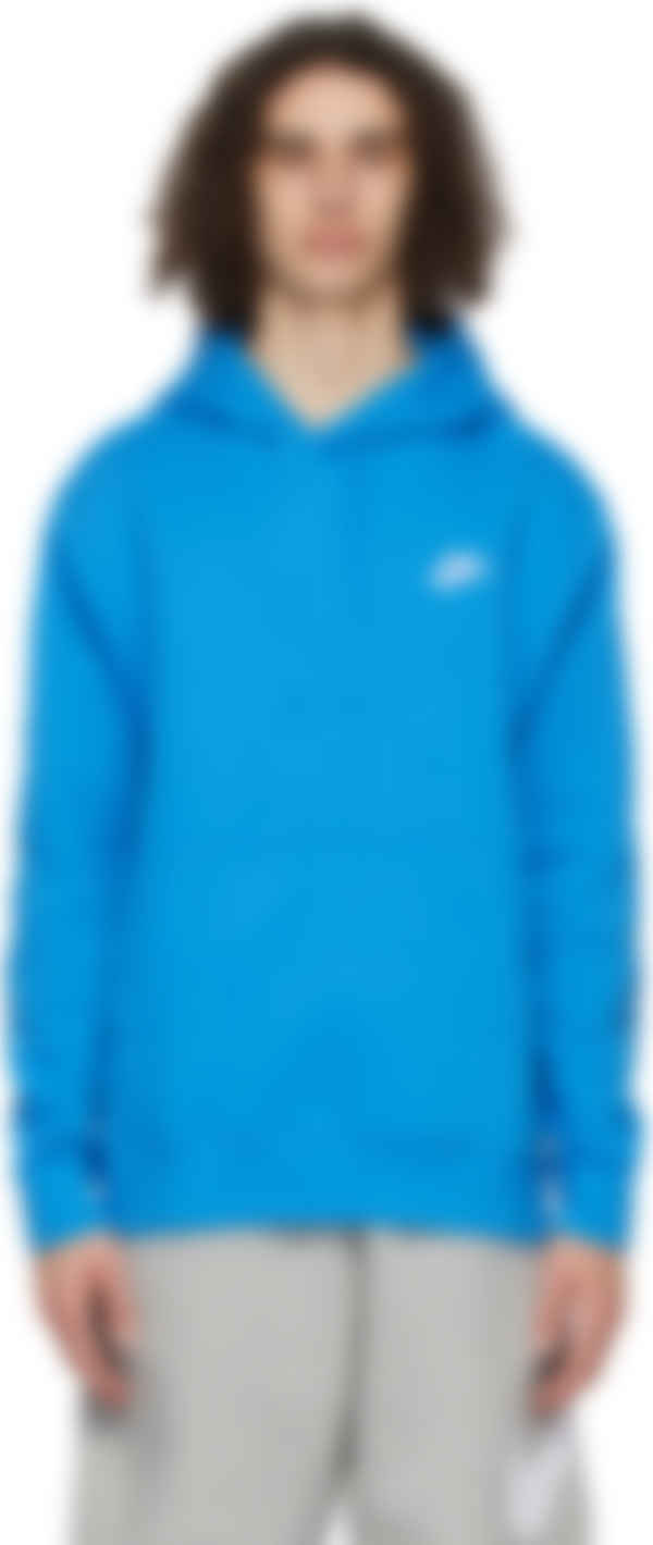Club Room Short Sleeve Sport Performance Hoodie XX-Large Seaport Blue NWT