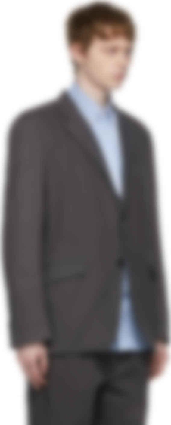 Comme des Garçons Homme - Grey Linen Garment-Dyed Blazer