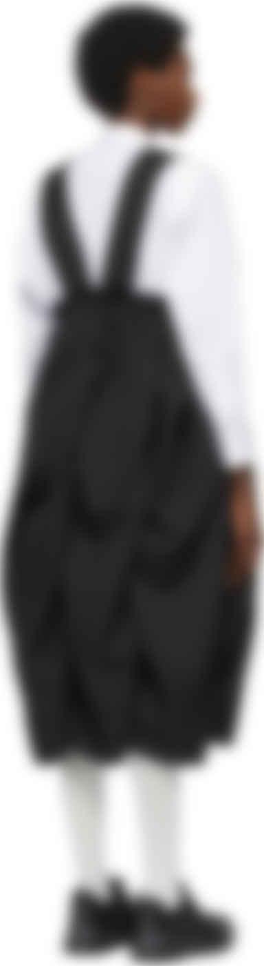 Comme des Garçons - Black Bumpy Suspender Skirt