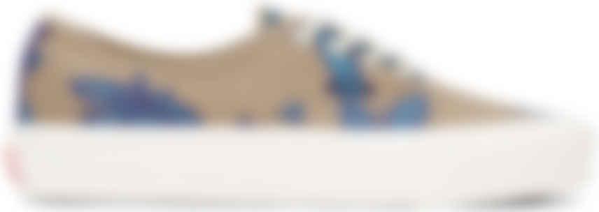 vans bleu motif