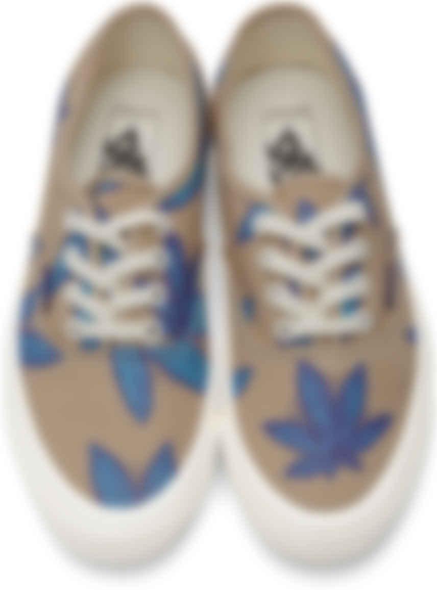 Baskets OG Authentic LX beiges et bleues à motif à feuilles Vans ...