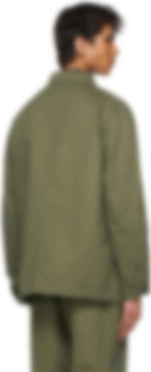 Needles - Khaki Herringbone Coverall Jacket