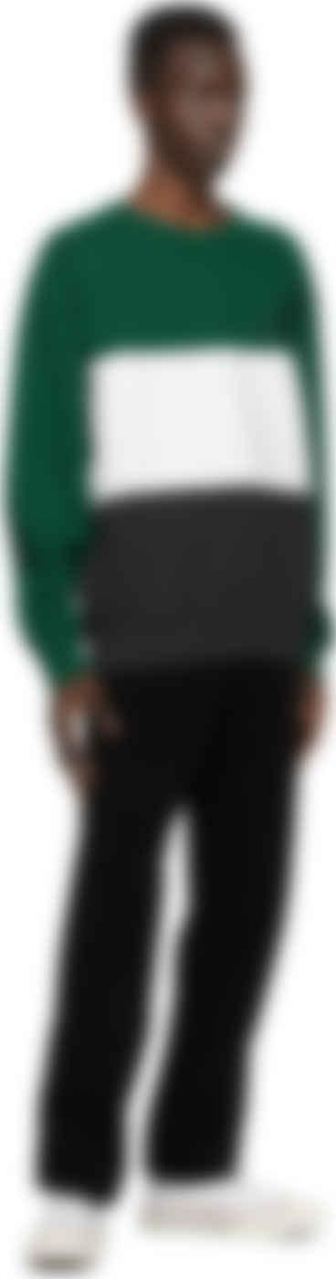WACKO MARIA - Green Three-Tone Washed Sweatshirt