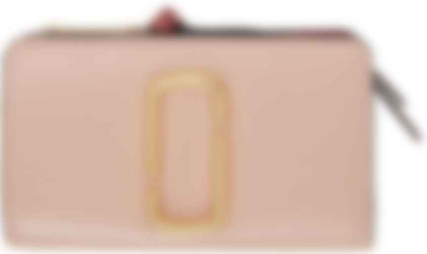 Portefeuille compact 'The Snapshot' rose et jaune