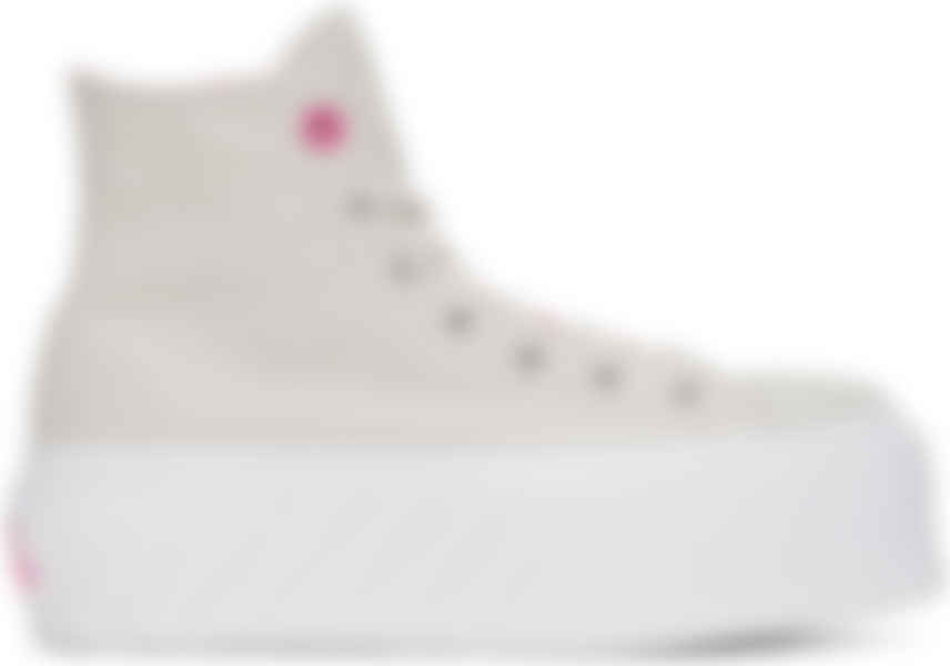 Beige Chuck Taylor All Star Lift Ripple High Sneakers