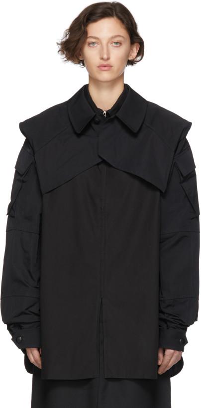Random Identities Black Shrug Jacket