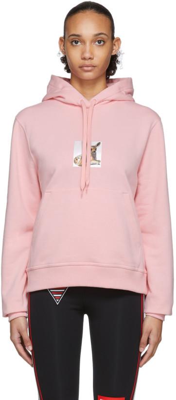 Burberry Pink Deer Junnes Hoodie