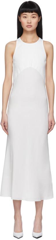 Haider Ackermann White Fabric Combination Dress